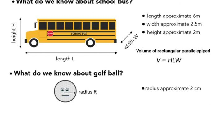 How Many Golf Balls Can Fit In a School Bus